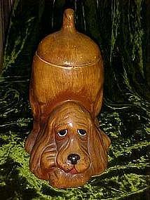 Basset hound cookie jar, Treasure craft USA