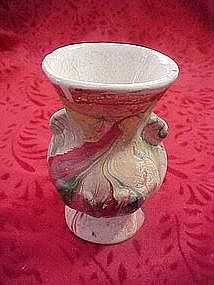 Colorful swirl Nemadji mini vase
