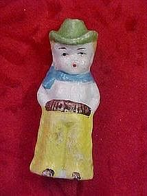 Antique bisque cowboy figurine