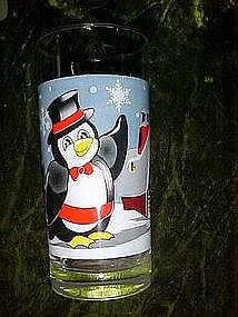 Seasons greetings  from Pepsi, Penguin glass