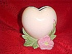 Vallona Starr heart vase, with roses,desert rose