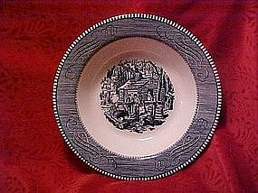 Currier and Ives, large serving bowl, Maple sugaring