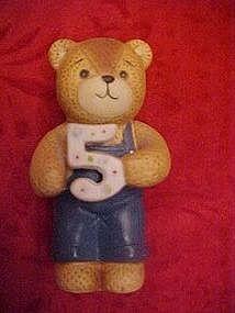 Lucy Riggs birthday bear figurine 5, by Enesco