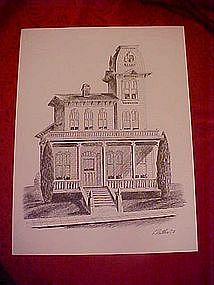 Victorian house print, by Dathe 1973