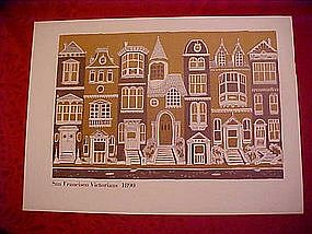 San Francisco Victorian Houses print, 1890