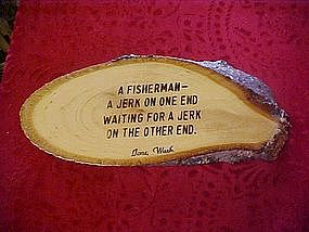 Cute fishermans wood sign, Two jerk's