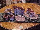 Colored sands, artistic  dinnerware set with vase
