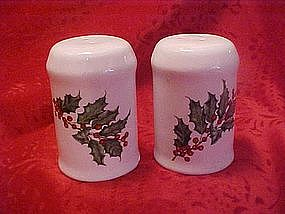 Hallmark Christmas Holly salt and pepper shakers