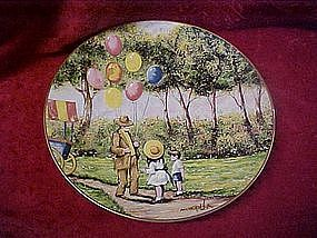 The Balloon Man, collector plate by Dominic Mingolla,