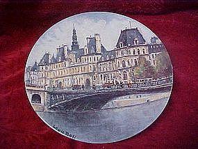 Limoges, L'Hotel deVille deParis, collector plate