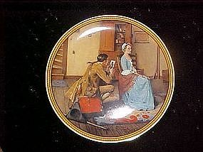 Rockwell's Colonials; Portrait for a Bridegroom plate