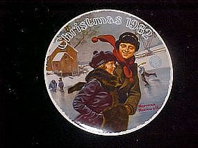 Christmas Courtship, Rockwell's Christmas 1982 plate