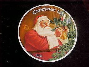 Santa's golden gift, Rockwell's Christmas 1987 plate