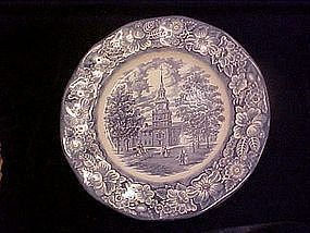 Liberty Blue dinner plate, Staffordshire England