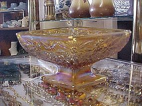 Diamond shape candy dish, marigold carnival, flowers