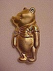 Winnie the Pooh gold tone pin, marked Disney