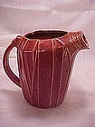 Old McCoy red deco pitcher