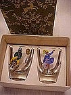 Vintage shot glass set in box, Switzerland Olympics '48