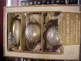 Vintage boxed Christmas ornaments, Germany, Fancy