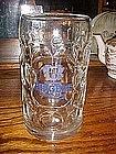 Large glass beer mug!! Huge liter size, Riegele