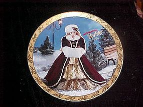 Happy Holidays Barbie 1996, collectors plate