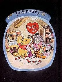 Winnie the Pooh the whole year through, February plate