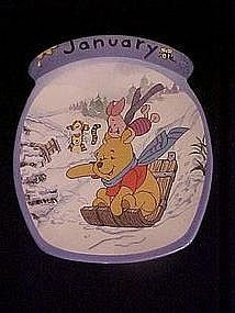 Winnie the Pooh the whole year through, January plate