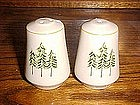 Pine tree design salt and pepper shakers