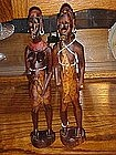 African Native wood carved figures, OLD