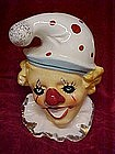 Clown head vase/ wall pocket