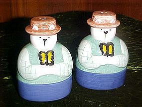 Dapper Country cat salt and pepper shakers
