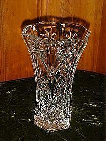 "EAPG Star of David 10 1/2"" vase, Anchor Hocking"