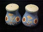 Hand painted shakers with sunflower bouquet