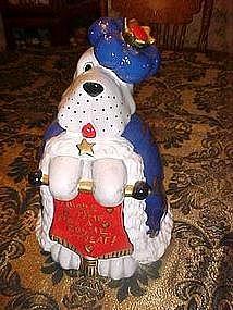 Royal treat cookie jar, The Royal cookie hound