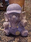 Elephant baby boy in cap, cookie jar
