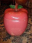Big red apple cookie jar