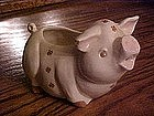 Pig cream pitcher with rose designs