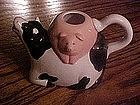 Ceramic cow & pig cream pitcher