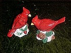Red cardinal salt and pepper shakers