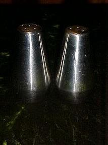 Retro stainless salt and pepper shaker set