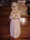 Lladro look girl with pillow figurine, Jango Spain