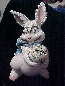 Old ceramic Easter bunny bank