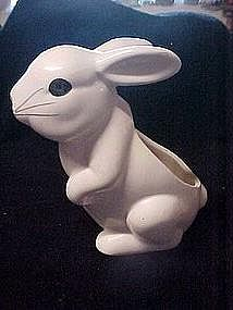 White bunny rabbit planter