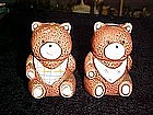 Teddy bears with bibs, salt and pepper shakers