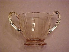 Fostoria Fairfax sugar bowl, topaz yellow