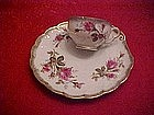 Moss rose snack set, cup with shell shape plate