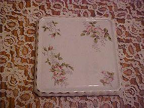 Antique porcelain trivet with florals