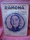 Ramona, dedication cover photo of Dolores Del Rio