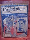 If you were the only girl, sheet music, Rudy Vallee