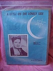 A little on the lonely side, sheet music